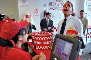 Até o Presidente Obama curte os lanches da rede. Fonte: Foto de internet