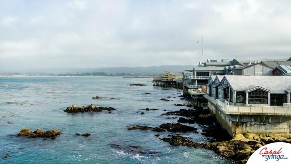 Vista da costa de Monterey