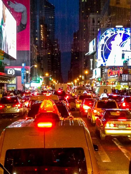 Trânsito em NY - Evite andar de Taxi e ônibus. Metrô é a melhor e mais rápida opção!