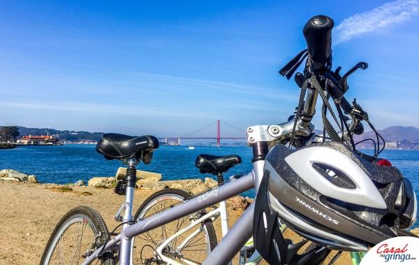 Nosso passeio de bike pela Golden Gate. Simplesmente incrível!