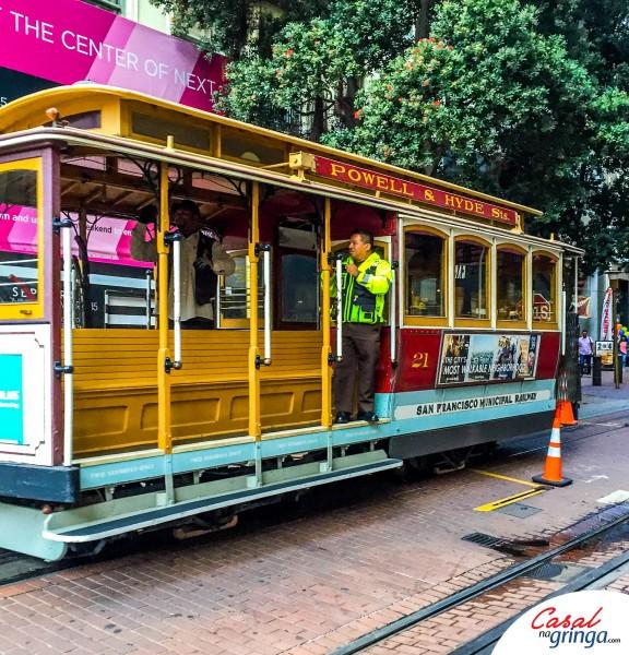 Cable Car da linha Poewell-Hyde