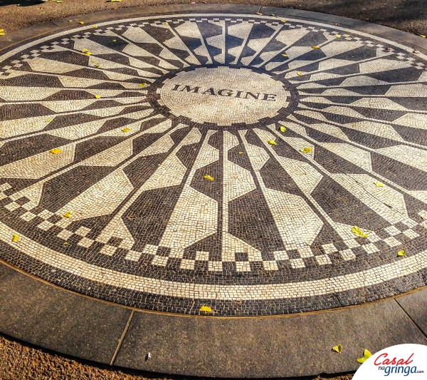 O famoso Mosaico em homenagem a John Lennon