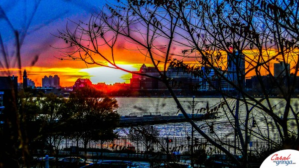 Pôr do Sol maravilhoso no High Line