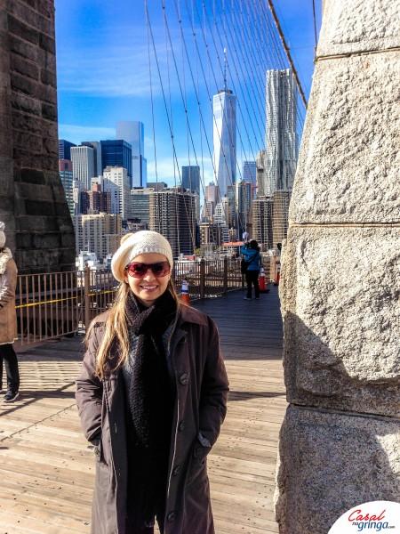 Pausa para foto na travessia da ponte