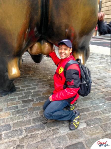 A foto da sorte no Charging Bull rsrs