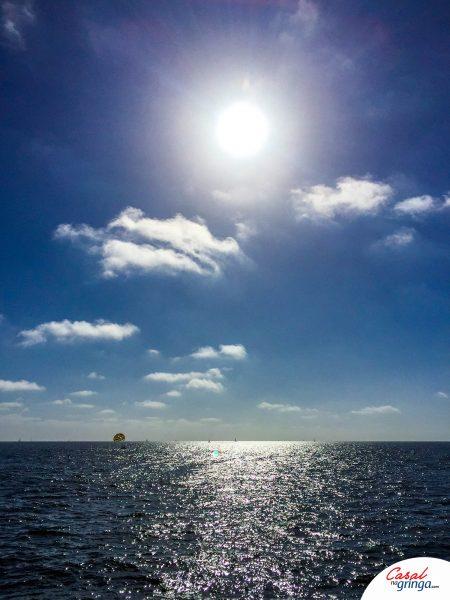 Linda vista do Pier para o Pacífico